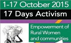 17 Days of Activism for Empowerment of Rural Women & Their Communities - Campaign 2015