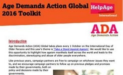 Age Demands Action Global 2016 Toolkit - Ageing Women