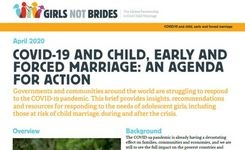 COVID-19 & Child, Early & Forced Marriage