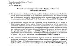 CSW 61 Draft Agreed Conclusions - To Be Negotiated by All CSW Member States