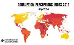 2014 Corruption perceptions index measures the perceived levels of public sector corruption in 175 countries & territories