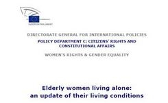 EU - Elderly Women Living Alone in Europe: An Update on Their Living Conditions - Study