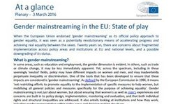 EU - Gender Mainstreaming as a Policy Approach - Analysis
