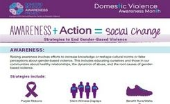 End Gender-Based Violence - Awareness + Action = Social Change