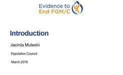 FGM/C - Research to Intensify Efforts to End FGM/C