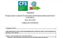 Framework for Action for Food Security & Nutrition in Protracted Crises - FAO Committee on World Food Security - Gender