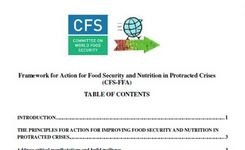 Framework for Action for Food Security & Nutrition in Protracted Crises - Committee on World Food Security - Gender