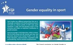 Gender Equality in Sport - Fact Sheet