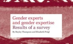 Gender Experts & Gender Expertise - Results of a Survey