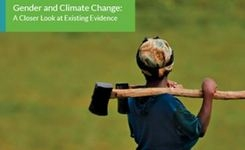 Gender & Climate Change: A Closer Look at Existing Evidence