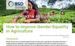 How to Improve Gender Equality in Agriculture