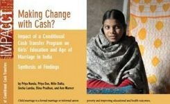 Impact on Early Marriage of Conditional Cash Transfers – India Research