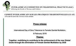 International Day of Zero Tolerance to FGM-Female Genital Mutilation-6 February