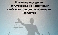 Извештај од судско набљудување на кривично и граѓански предмети за семејно насилство