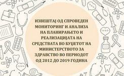 Извештај од спроведен мониторинг и анализа на планирањето и реализацијата на средствата во буџетот на министерството за здравство во периодот од 2012 до 2019 година