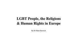 LGBT People, The Religions & Human Rights in Europe