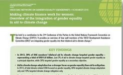 Making Climate Finance Work for Women: Overview of Integration of Gender Equality in Aid to Climate Chan