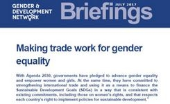 Making Trade Work for Gender Equality - GADN