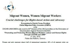 Migrant Women, Women Migrant Workers - Crucial Challenges for Rights-Based Action & Advocacy