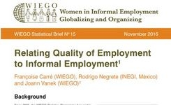 Relating Quality of Employment to Informal Employment - WIEGO