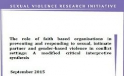 Role of Faith Based Organizations in Preventing & Responding to Sexual, Intimate Partner & Gender-Based Violence in Conflict Settings
