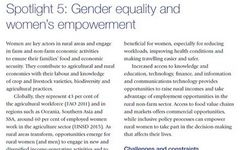 Rural Development Report 2016 - Spotlight on Gender Equality - IFAD
