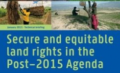Secure & Equitable land rights in the Post-2015 agenda – Women's land rights