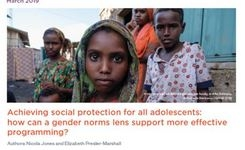 Social Protection Programs & Cash Transfers Need Attention To ADOLESCENTS & To Include GENDER Norms