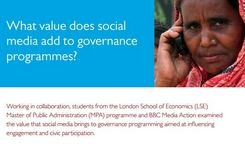 Social media combined with other media can be effective for citizen engagement & Participation in governance issues – Women