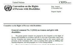 UN Committee on the Rights of Persons with Disabilities - General Comment on Women & Girls with Disabilities