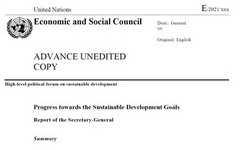 UN S-G 2021 Report on the SDG's - Goal 5 on Gender Equality& Empowerment +