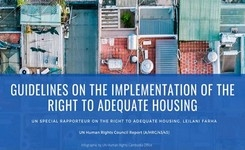 UN Special Rapporteur on Adequate Housing - Report - Defence Against COVID-19 - Gender - Guidelines