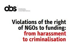 Violations of the Right of NGO's to Funding - Restrictions by Governments - Challenges for Women's & Human Rights NGO's