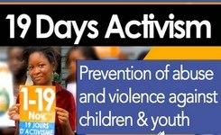 19 Days of Activism Campaign 2015 to Prevent Abuse & Violence Against Children/Youth - Call to Action - Prevention Kit +