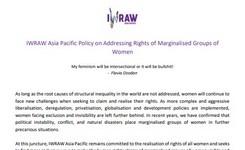 Addressing Rights of Marginalised Groups of Women - IWRAW AP