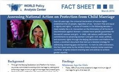 Assessing National Action Around the World on Protection from Child Marriage