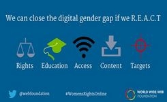 Close the Digital Gender Gap - REACT: Rights, Education, Access, Content, & Targets
