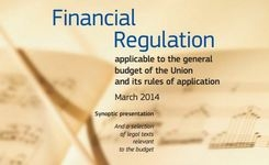 Financial regulation applicable to the general budget of the Union and its rules of application, March 2014