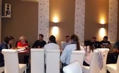 """Фокус група со лица вработени како резултат на активните мерки и програми за вработување од општина Свети Николе во рамки на проектот """"Социјална отчетност за родова еднаквост"""""""