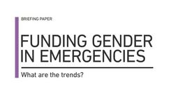 Funding gender in emergencies - What are the trends?