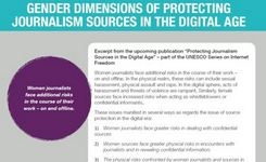 Gender Dimensions of Protecting Journalism Sources in the Digital Age - Women Journalists & Their Women Info Sources