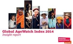 Global Agewatch Index 2014 Report - Ageing women