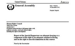HOMELESSNESS - UN Special Rapporteur on Housing Report to the UN Human Rights Council 2016 - Homeless Women