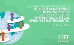 How are the GIFT Principles on Public Participation in Fiscal Policy being incorporated in international fiscal openness instruments?