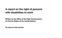 Report on the Rights of Persons with Disabilities to Work - Women with Disabilities & Work