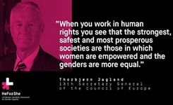 Secretary General Jagland backs groundbreaking gender equality campaign in the name of 'strong, safe and prosperous societies'