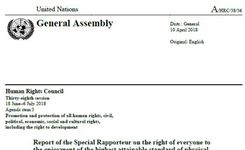Special Rapporteur on Health Report to the UN HRC 2018 - The Right to Health in Detention, Confinement - Women in Prison