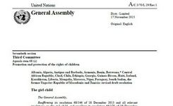 The Girl Child - UN General Assembly 2015 Resolution