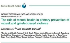 The role of mental health in primary prevention of sexual & gender-based violence (SGBV)