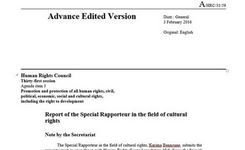 UN Special Rapporteur on Cultural Rights 2016 Report to the Human Rights Council - Intentional Destruction of Cultural Heritage Is a Violation of Human Rights